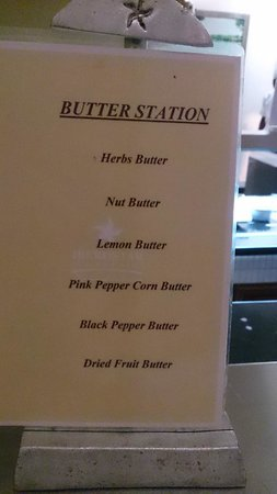 Iberostar Grand Hotel Rose Hall : The sign at the Butter Station!