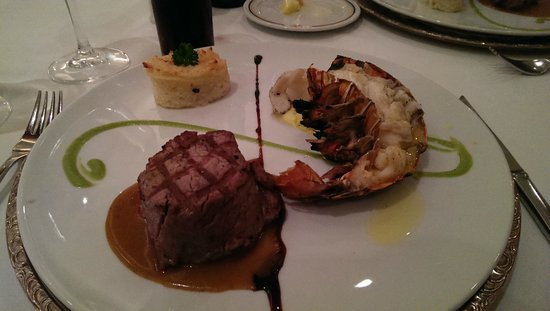Iberostar Grand Hotel Rose Hall: Fillet steak and lobster at the Surf and Turf Restaurant