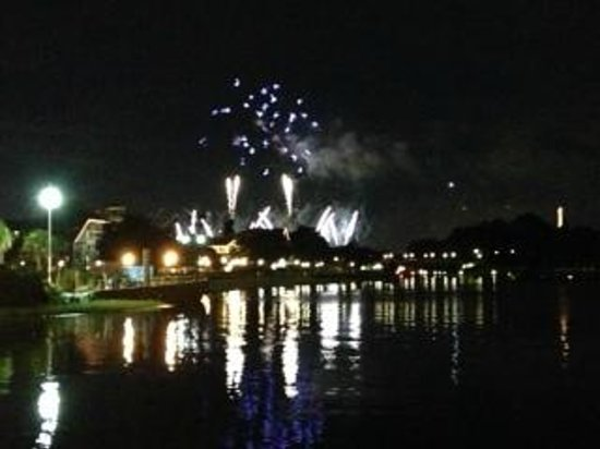 Disney's Yacht Club Resort: View of fireworks from Epcot