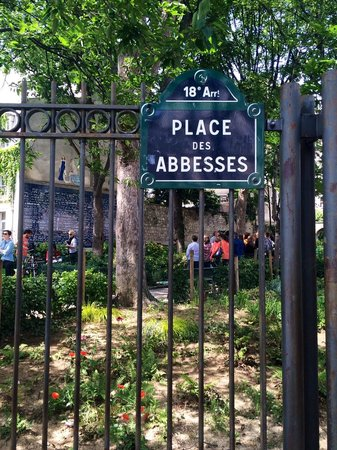 Place des Abbesses: Nome do Local