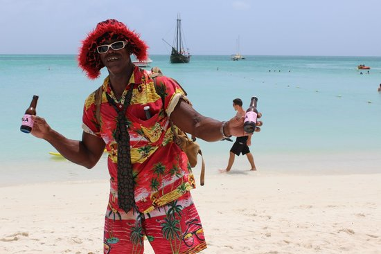 Holiday Inn Resort Aruba - Beach Resort & Casino : Aloe Man -- woo hoo!