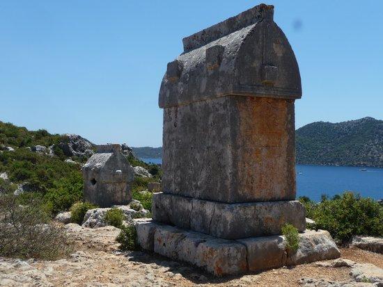 Castle of Simena : tombs.