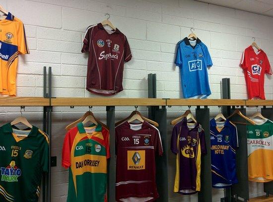 Croke Park Stadium: Dressing room jerseys