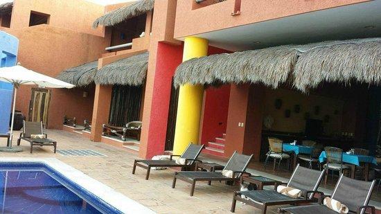 Casa de los Suenos: View of patio areas for rooms on ground floor
