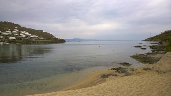 Ornos Beach: Just like a big lake so still