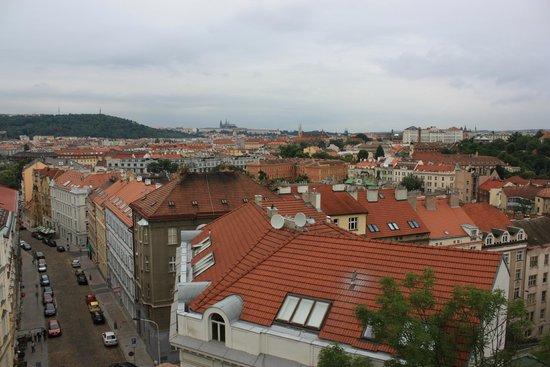 Vyšehrad : Вид на город со стен Вышеграда