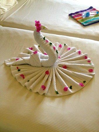 SENTIDO Reef Oasis Senses Resort : Towel Swan