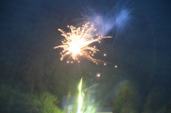 The Old Rectory on the Lake: fireworks from across the lake
