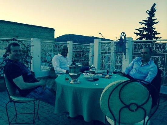 Riad Myra: the terrace with my wonderful hosts