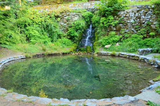 The Chateau at the Oregon Caves: Pond & Waterfall