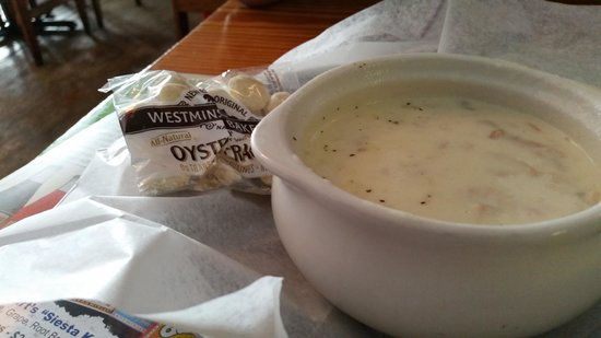 Captain Curt's Crab & Oyster Bar: award winning clam chowder