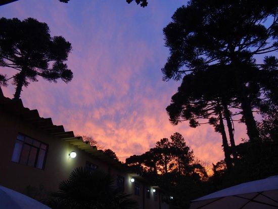 Hotel Estancia Santa Cruz: Anoitecer