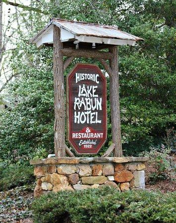Lake Rabun Hotel & Restaurant: Entry sign, Lake Rabun Hotel, Lakemont, Georgia