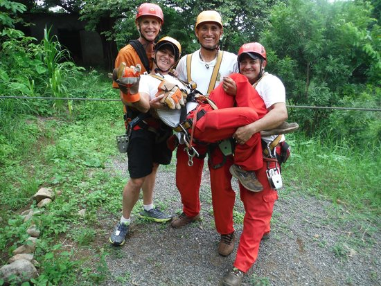 Adventure Park & Hotel Vista Golfo: With our crazy fun guides!
