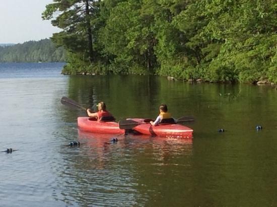Medomak Camp and Retreat Center: Easy kayaking in Medomak's cove
