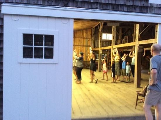 Medomak Camp and Retreat Center: Barn dance