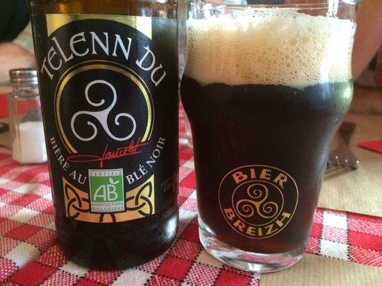 Crêperie Brocéliande : Excellent French dark beer