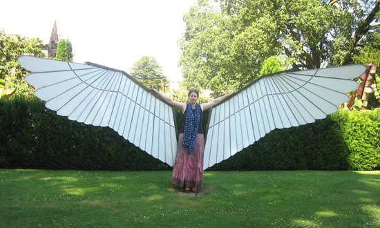 The Bishop's Palace and Gardens: one of Edgar Phillips' cool wing sculptures