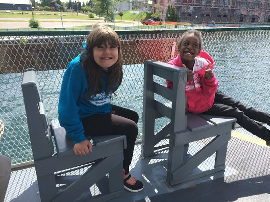 Soo Locks Boat Tours: On a boat tour -- can't wait to go again!