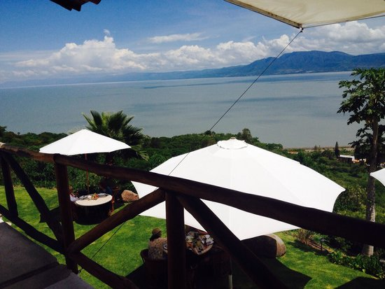 La Vita Bella Hotel Holistico: Desde el balcón de la habitación..