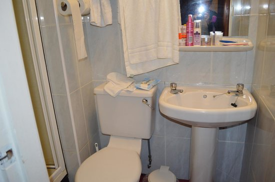 Bay Tarbet Hotel: Small bathroom
