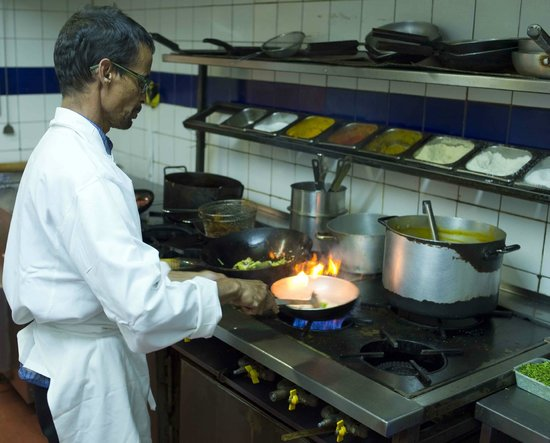 Bay of Bengal: Head chef and owner at the stove
