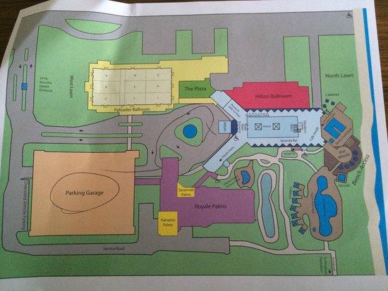 Hilton Myrtle Beach Resort Hotel Map