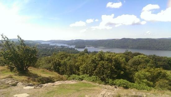 Orrest Head: Utsikten sørover mot Bowness