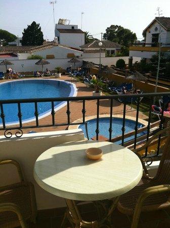 Hostal Los Pinos: Vista piscina