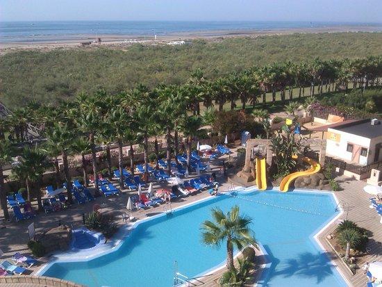 Playacanela Hotel: VISTAS DESDE LA HABITACION