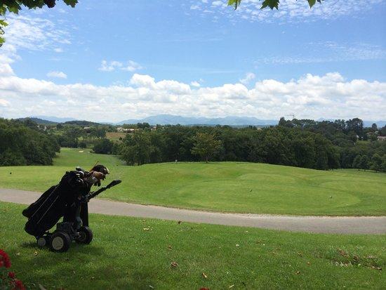 Golf d'Arcangues Restaurant : Vue depuis terrasse