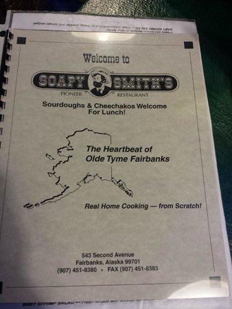 Soapy Smith's Pioneer Restaurant: Menu