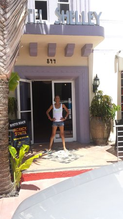 Hotel Shelley: Shelly in front of her Namesake Hotel