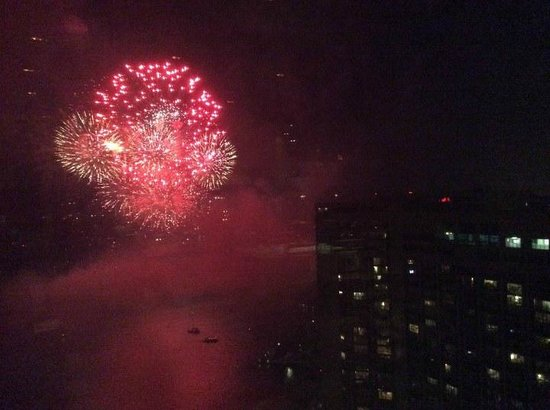 The Westin Harbour Castle: View from rooftop bar. (Canada day)