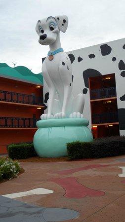 Disney's All-Star Movies Resort: Decoração da área 101 dálmatas 2