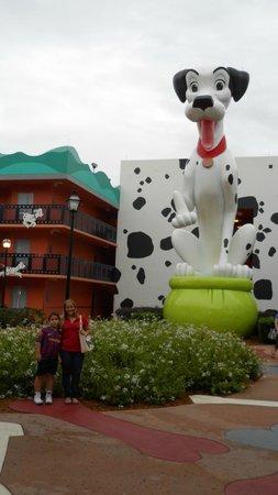 Disney's All-Star Movies Resort: Decoração da área 101 dálmatas