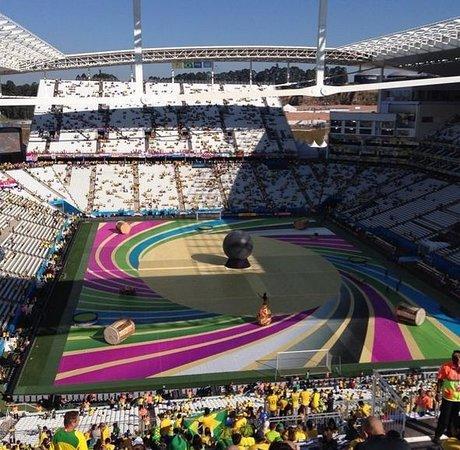 Corinthians Arena: Visão a partir das arquibancadas móveis