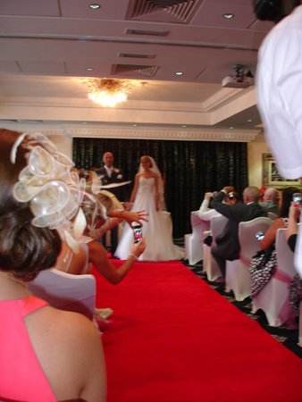 Best Western Premier Hallmark Hotel Preston Leyland: the wedding ceremony it self
