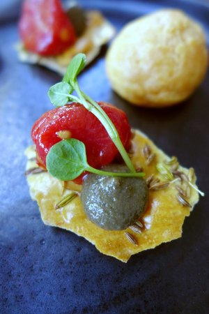 The Restaurant at The Cottage in the Wood: Canapes