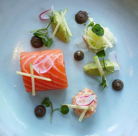 The Restaurant at The Cottage in the Wood: salmon