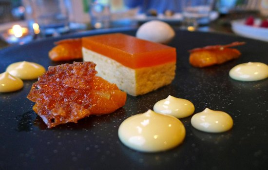 The Restaurant at The Cottage in the Wood: Apricot delice