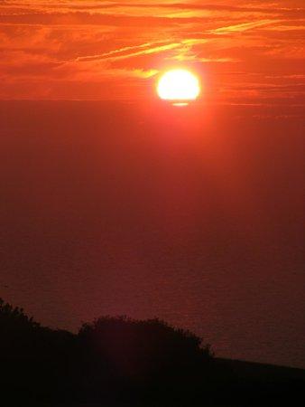 Nant Y Croi Farmhouse: Sun set