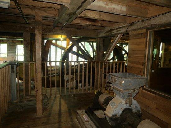 Waterwheel Cafe, Bakery & Bar : The revolving mill wheel in back