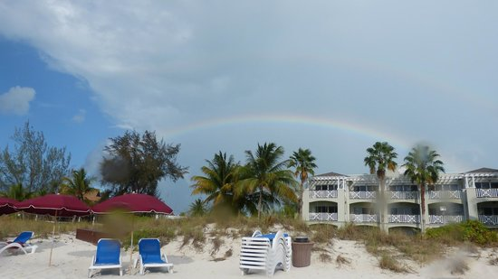 Royal West Indies Resort : RWI from beach (with bonus double rainbow!)