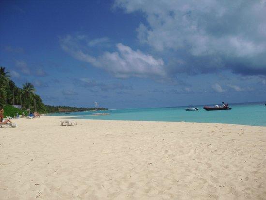 Kuramathi Island Resort: Spiaggia vicina alle camere