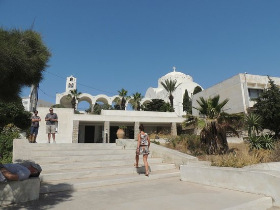 Museum of Prehistoric Thera : Main entrance, seen from Dekigala street
