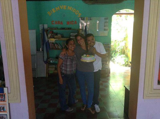 Casa Nica Spanish School: My last day in Casa Nica with two teachers