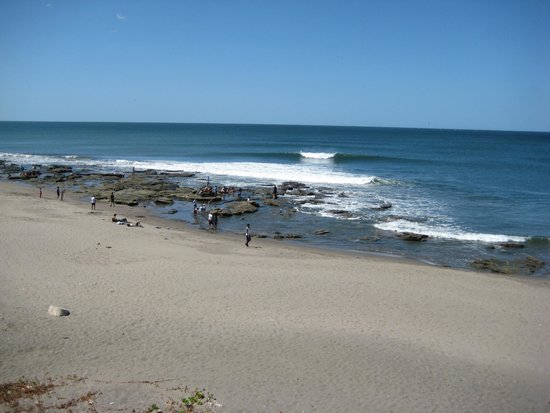 Surf Tours Nicaragua: Miramar Point on a flat day. View from the Rancho.
