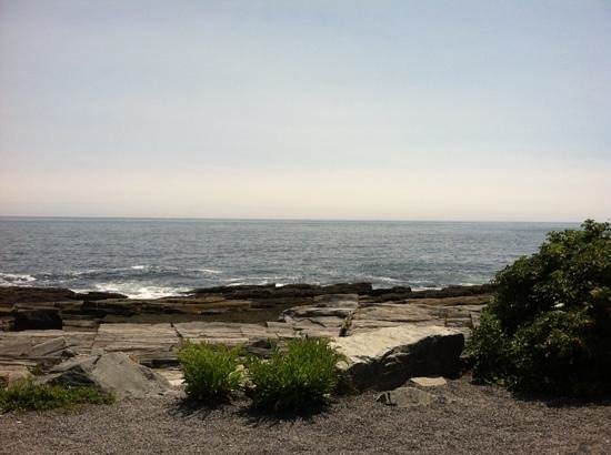 The Lobster Shack at Two Lights : view from our picnic table!