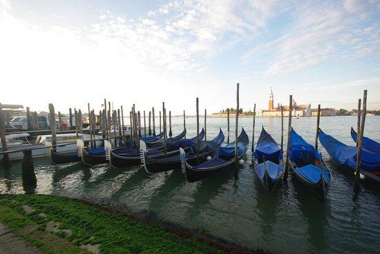 San Giorgio Maggiore: Вид на собор утром с набережной